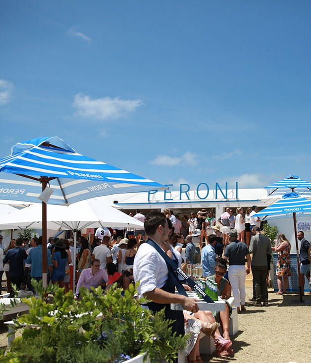 """**** The summery """"life by the sea"""" theme continues outside the Peroni marquee."""