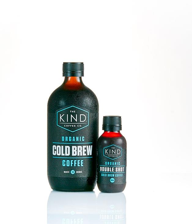 """**The Kind Coffee Co, Burleigh Heads** _Organic Cold Brew, $36 for two 500ml bottles; Organic Double Shot $27 for six 100ml bottles, [thekindcoffeeco.com](http://thekindcoffeeco.com/ """"The Kind Coffee Co"""")._"""