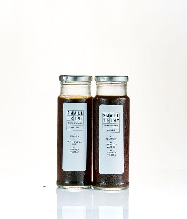 """**Small Print, Perth** _Cold brew, $6.50 for 250ml,[printhall.com.au](http://www.printhall.com.au """"Print Hall"""")._"""