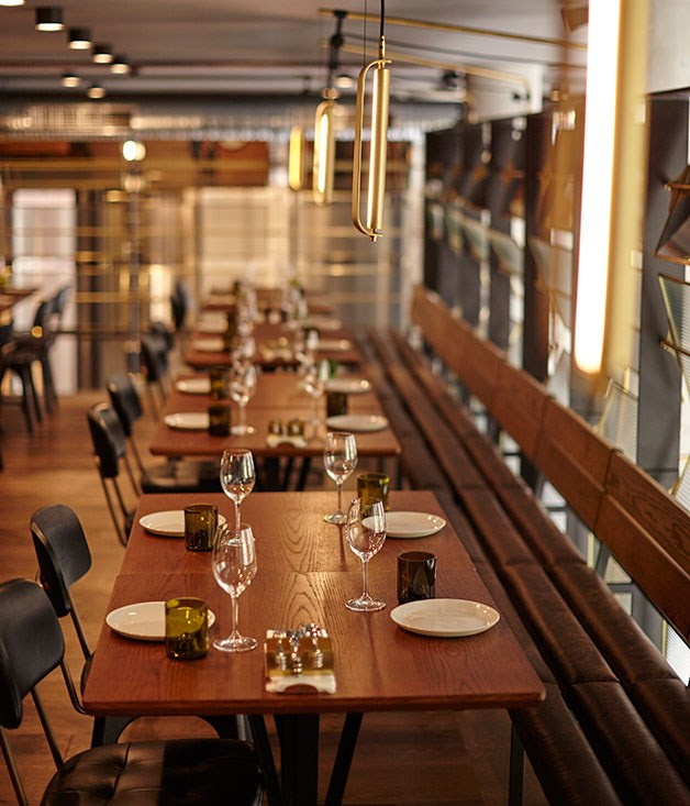 **** The sleek upstairs dining room at Kensington Street Social.