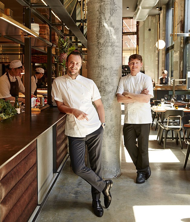 **** Jason Atherton and his executive chef Robert Daniels.