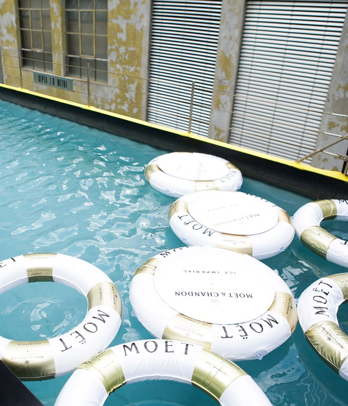 ****  Mon Bijou's rooftop pool looked the part with Moët & Chandon life rings.