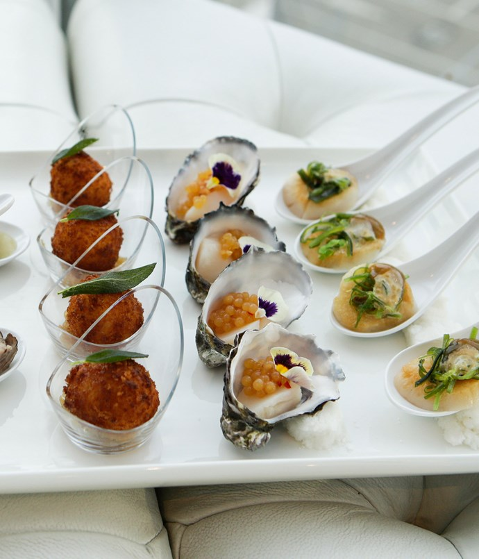 ****  Canapés from head chef Christy Tania of Melbourne's Om Nom Dessert Bar and Masterchef fame.