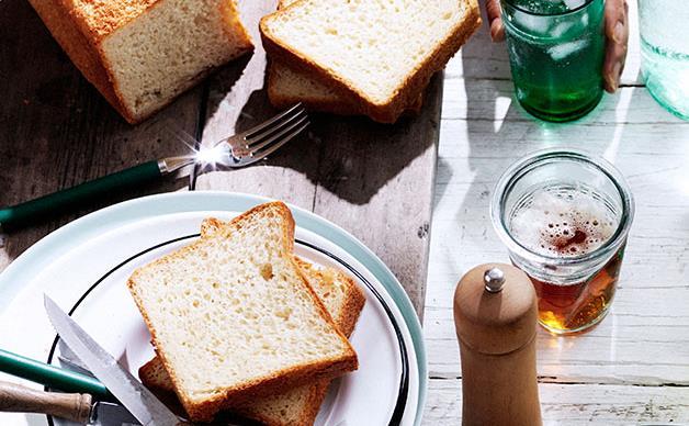 Homemade white bread