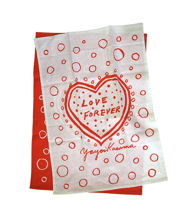 "**Yayoi Kusama Love Forever tea-towel set** No-one sees the world quite like Yayoi Kusama, so let this [graphic tea-towel set](http://www.thirddrawerdown.com/collections/yayoi-kusama ""Third Drawer Down"") from the artist be a constant reminder to stay present and positive, with or without a Valentine in tow. _$60_"