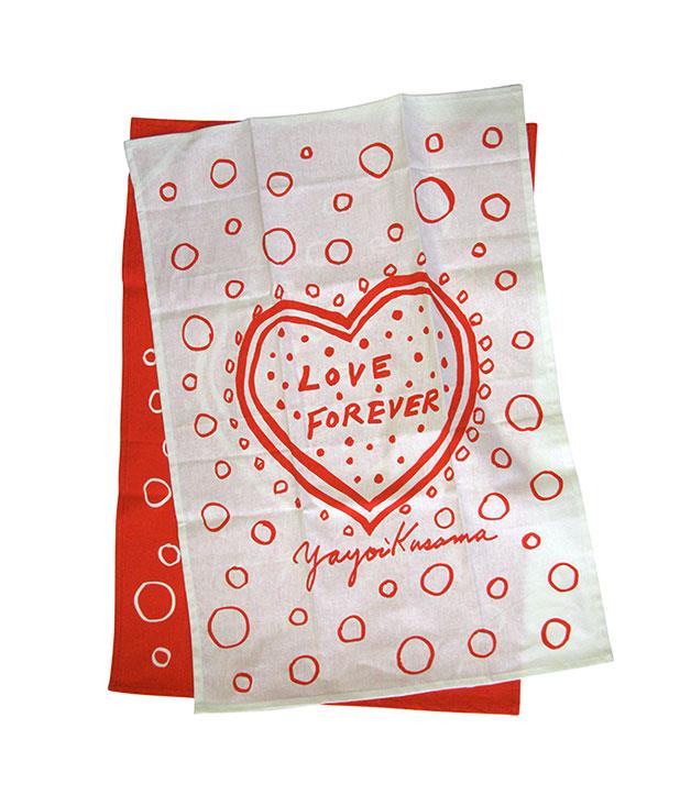 """**Yayoi Kusama Love Forever tea-towel set** No-one sees the world quite like Yayoi Kusama, so let this [graphic tea-towel set](http://www.thirddrawerdown.com/collections/yayoi-kusama """"Third Drawer Down"""") from the artist be a constant reminder to stay present and positive, with or without a Valentine in tow. _$60_"""