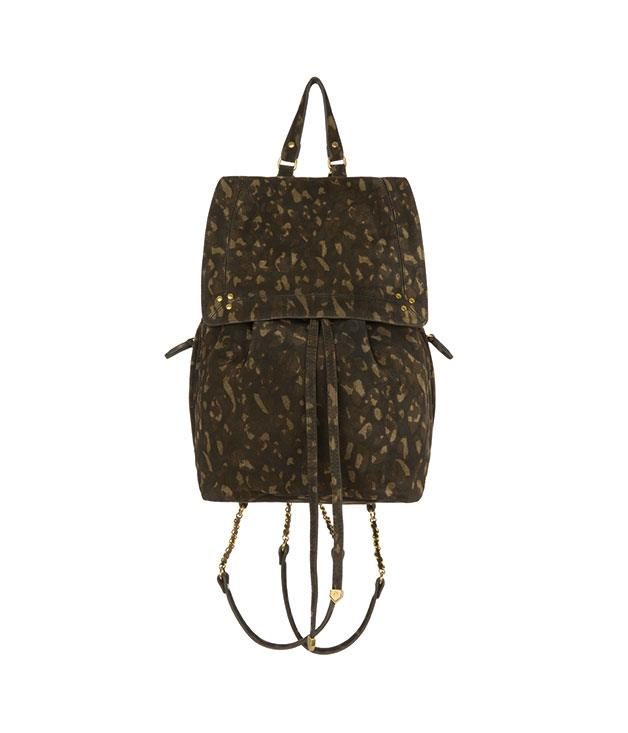 """**Jerome Dreyfuss Florent backpack** Camouflage: it's a trend we can't seem to quit. And if you had this [Jerome Dreyfuss backpack](http://www.jerome-dreyfuss.com """"Jerome Dreyfuss"""") slung over your shoulder, why would you? _$954_"""