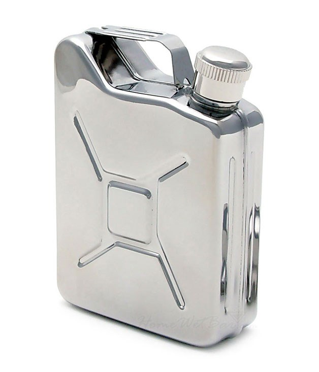 "**Hunting for George jerry-can hip flask** A picnic lunch and a [hip flask](http://www.huntingforgeorge.com/gifts/gender/for-him/jerry-can-hip-flask-pigeonhole ""Hunting for George"") filled with your Valentine's favourite poison: happy days. _$35_"