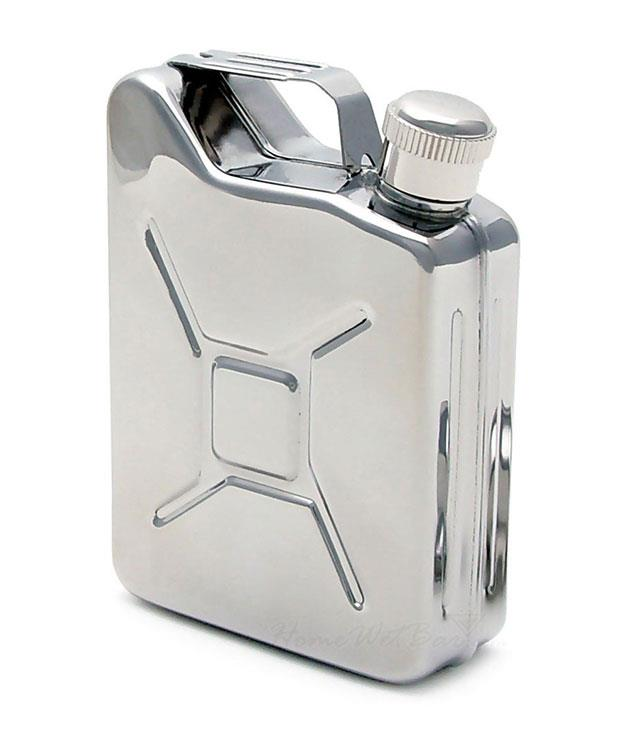 """**Hunting for George jerry-can hip flask** A picnic lunch and a [hip flask](http://www.huntingforgeorge.com/gifts/gender/for-him/jerry-can-hip-flask-pigeonhole """"Hunting for George"""") filled with your Valentine's favourite poison: happy days. _$35_"""