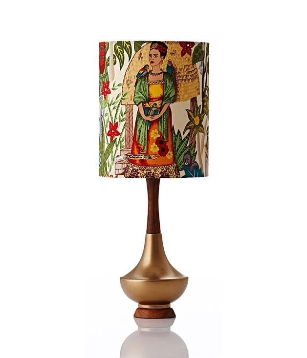 """**Retro Print Revival Electra Lamp** Frida Kahlo wrote love letters to her husband, Diego Rivera, for 27 long years. Pay tribute to that passion (and her art) with this mid-century-inspired [Kahlo-covered lamp](http://www.retroprintrevival.com/collections/electra-lamp """"Retro Print Revival"""") from Retro Print Revival. _$475_"""
