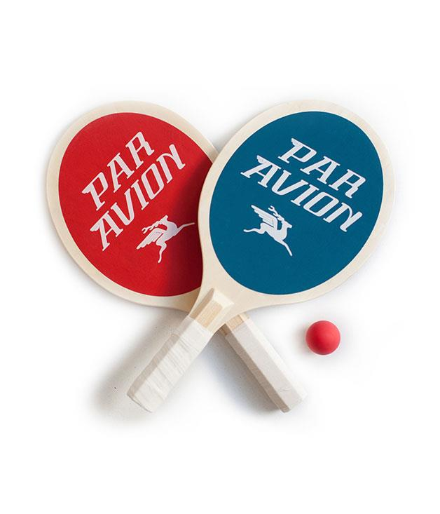 """**Par Avion paddle ball set** For the competitive Valentine: it's time to get playful with light balls and wooden bats. Who's up for a game of [paddle ball](http://www.thirddrawerdown.com/products/par-avion-paddle-ball-set?mc_cid=89bdc8e95c&mc_eid=639e624021 """"Third Drawer Down"""")? _$48_"""