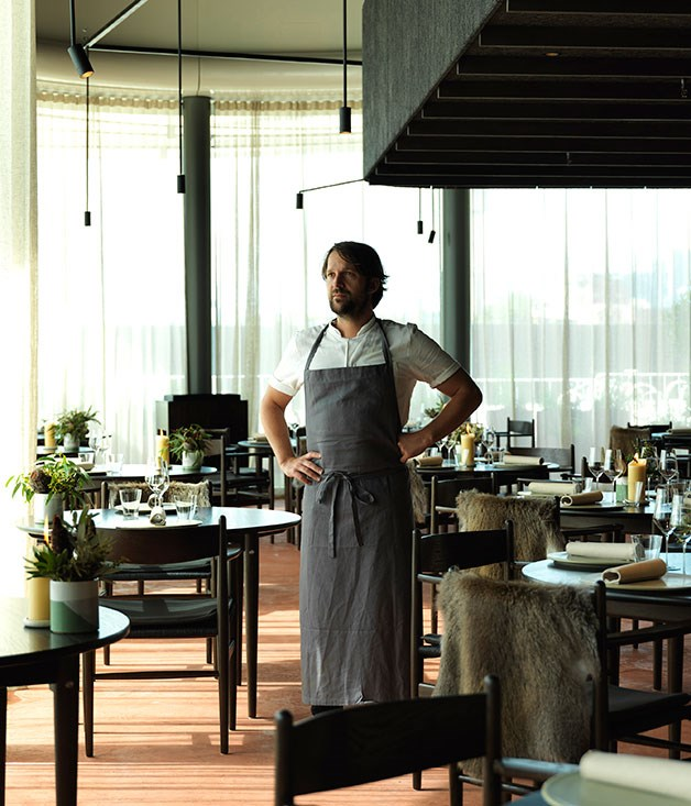 **** Chef René Redzepi flew 100 or so of his Copenhagen staff to Sydney to create the food and service at Noma Australia, but he couldn't exactly transport the old fishing warehouse in which his Danish restaurant resides. Setting up for 10 weeks at the base of a new apartment building at Barangaroo South, Redzepi turned to Melbourne design studio Foolscap to convey his very particular vision of place.