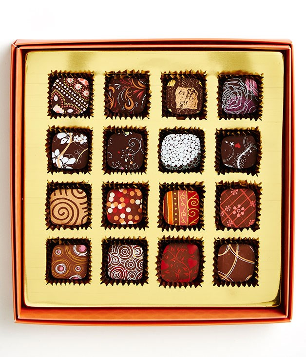 **Just Bliss, SA** This colourful 16-piece collection features flavours from chocolatier Gulcay Bateman's milk and dark chocolate couture ranges. Our pick? The cinnamon rococo and the toasted marshmallow. _Dark & Milk Couture collections, $29.95 for 200gm, [justbliss.com.au](http://www.justbliss.com.au)_