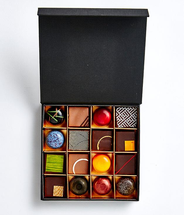 **Bibelot, Vic** The folks at Bibelot have something equally flavoursome as colourful in store for the 14 February. This psychedelic assortment of 16 bonbons feature flavours like chestnut-whiskey and peanut butter and celery, as well as two Valentine's exclusives - lavender and apricot, and Champagne and blackcurrant. _Bibelot 16-piece bonbon box, $45, [bibelot.com.au](http://www.bibelot.com.au)_