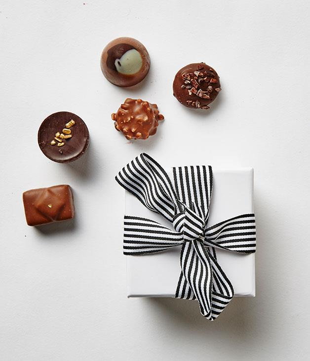 **Just William, NSW** Treat your loved one to a box of five handmade truffles, pralines, ganaches and creams from Paddington's Just William. With caramelised praline, raspberry and a vanilla nougatine truffle on offer, this hole-in-the-wall chocolate shop is definitely worth a walk-in. _Just William coloured gift boxes, $17 each, [justwilliam.com.au](http://www.justwilliam.com.au)_