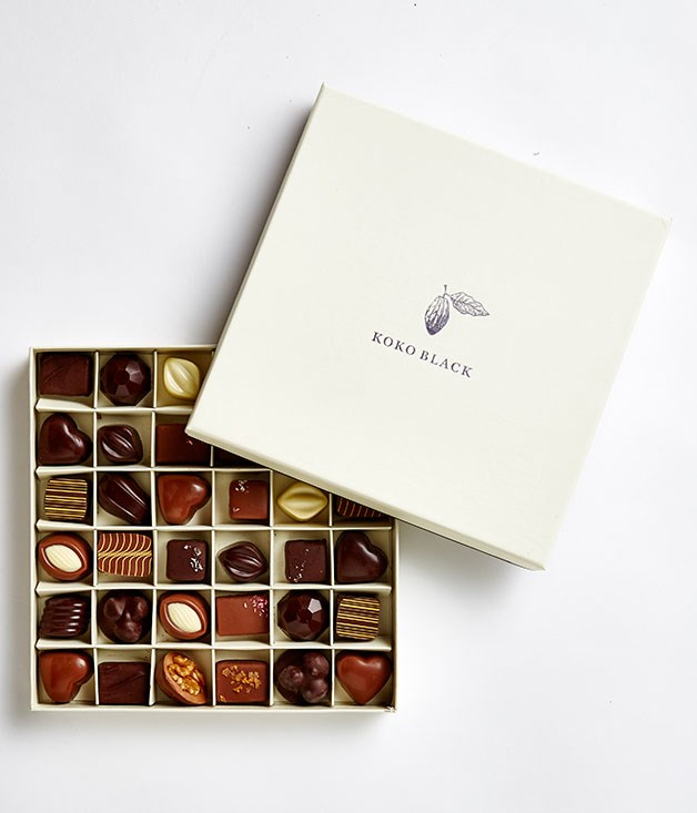 **Koko Black, Vic** Avoid the trial-and-error ritual with this year's assortment - take the reins by picking 36 pieces from Koko Black's range, or take your cues from the masters with their pre-mixed Chocolatier's selection, which features flavours like chai, caramelised coconut and Amarena cherry. _Koko Black 36-piece gift box, $78.50, [kokoblack.com](http://www.kokoblack.com)_