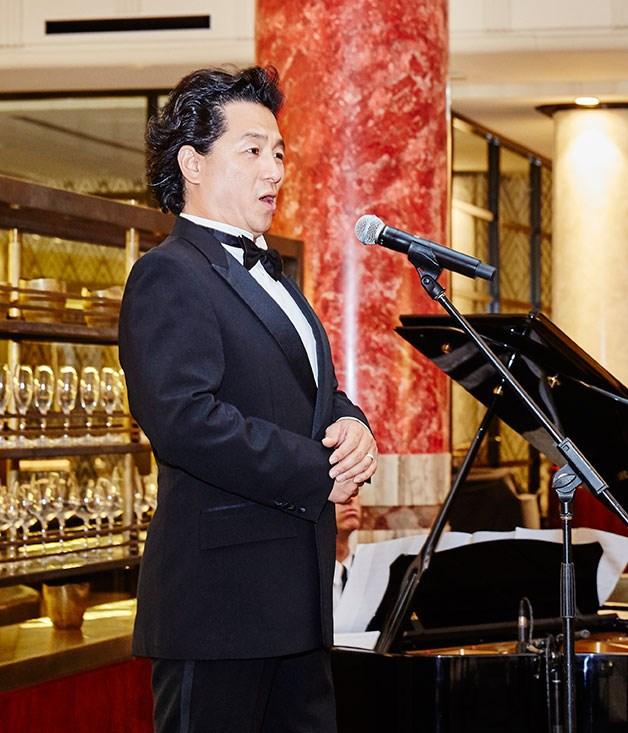 """**** Opera Australia artist Simon Kim performed """"La Donna e Mobile"""" from _Rigoletto_ and """"Nessun Dorma"""" from _Turandot._"""