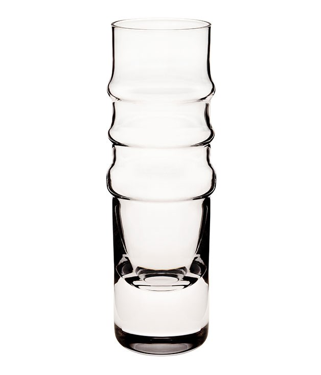"""**Marimekko flute** When you're going for the good stuff, make sure the glassware comes to the party. This [flute](http://www.marimekko.com """"Marimekko"""") by Helsinki designer Anu Penttinen is hand-blown with a flat base, making it as practical as it is fashion-forward. _$52_"""