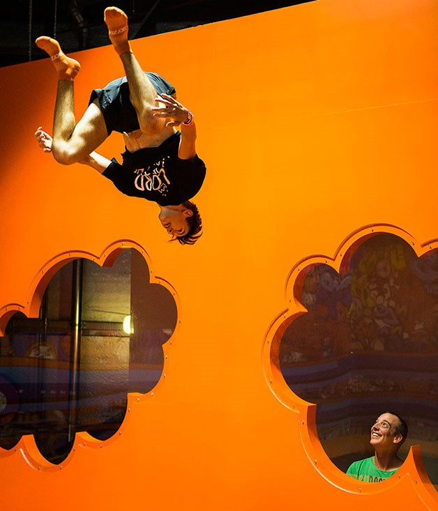 "**Sky Zone** It's time to limber up in your active wear at Sky Zone, the first indoor trampoline park to hit Australia. Inside you'll find more than 100 interconnected trampolines which will have you and your Valentine throwing caution to the wind. [_skyzone.com.au_](http://skyzone.com.au/ ""Sky Zone"")"