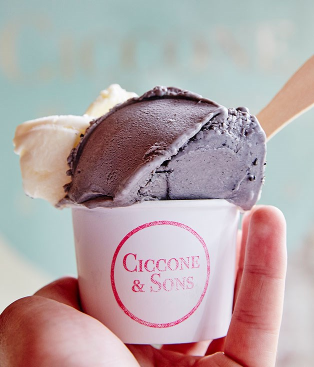 "**Ciccone & Sons, Redfern** A cup of black sesame and pear and riesling gelato. _[facebook.com/cicconeandsons](https://www.facebook.com/cicconeandsons/ ""Ciccone and Sons"")_"