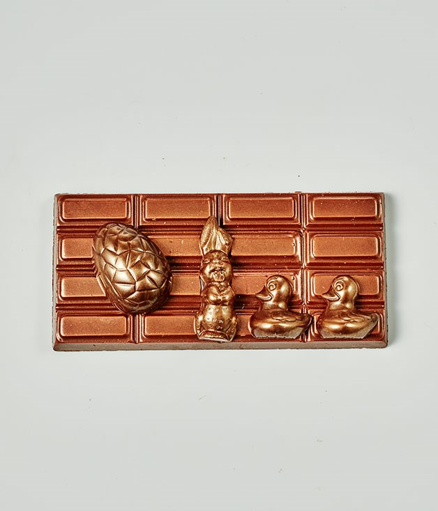 "**Cioccolato Lombardo** Sourdough Milk Chocolate Bar with dark chocolate Easter decoration, $19.50 for 150gm   _[cioccolatolombardo.com](http://cioccolatolombardo.com/ ""Cioccolato Lombardo"")_"