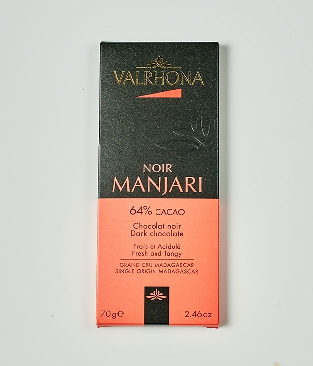 "**Valrhona** Noir Manjari 64% Cacao Dark Chocolate, $10.95 for 70gm   _[simonjohnson.com](http://www.simonjohnson.com/ ""Simon Johnson"")_"