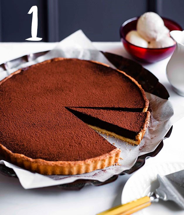 **Chocolate tart** You can't beat an amazing chocolate tart, so it comes as no surprise that this classic recipe comes in as our number one chocolate recipe of all time.