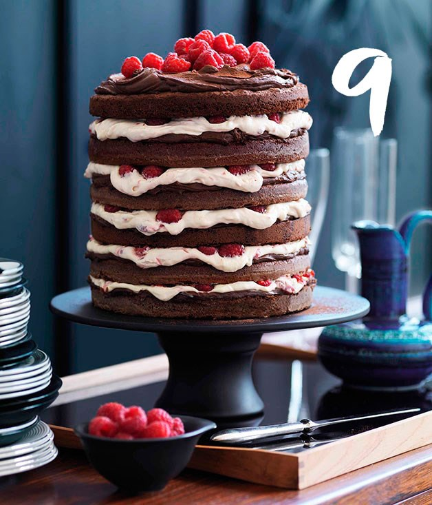 **Chocolate raspberry layer cake** Try not to lick the screen.