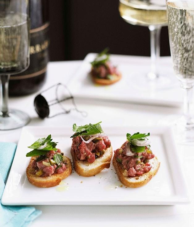 "[**Steak tartare**](https://www.gourmettraveller.com.au/recipes/chefs-recipes/steak-tartare-7799|target=""_blank"")"