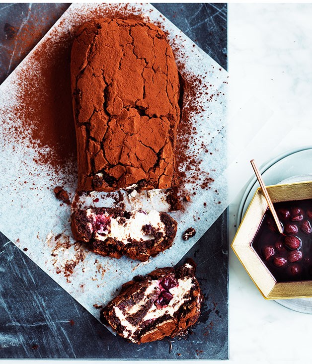 Black Forest chocolate roulade