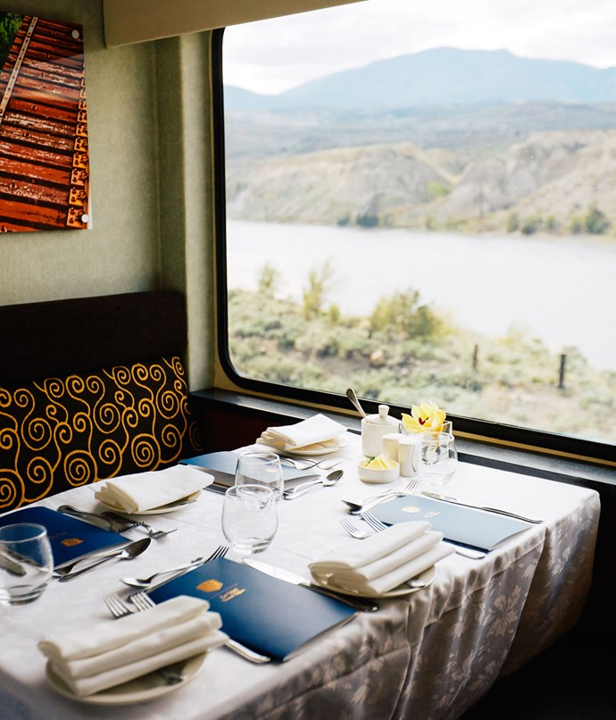 **Dining on board the Rocky Mountaineer**