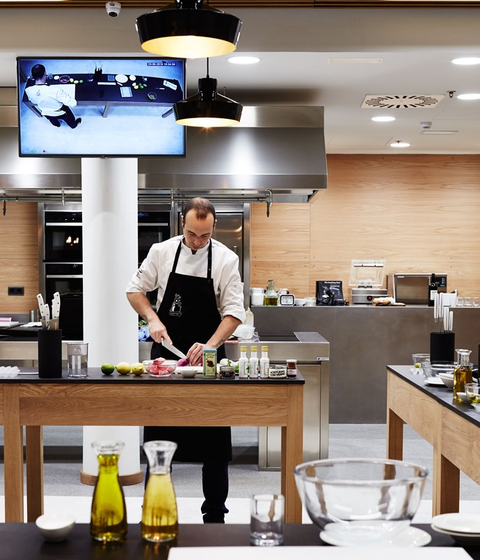 "**San Sebastián Food** This cooking school, attached to the Maria Cristina hotel, opened last year and it's very well done. The equipment and the stations where you work are all immaculate, new and beautiful, and the classes are well-designed and multilingual. If you wanted to get deeper into Basque food culture, and get your hands dirty with a cooking experience, this is where you'd go.     _Calle Okendo 1, +34 94 342 1143, [sansebastiánfood.com](/<a href=""http:/www.sansebastianfood.com/"" rel=""nofollow""> sansebastianfood.com</a>)_"