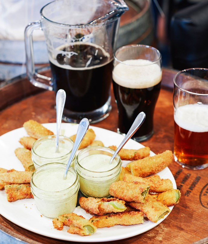 **Fried pickles at The Noble Pig Brewhouse**