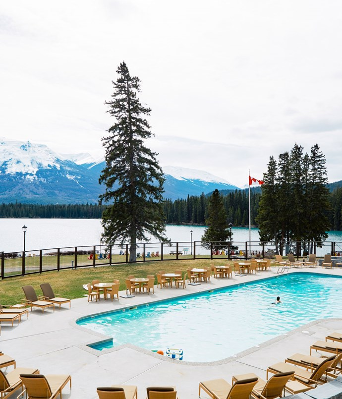 **Fairmont Jasper Park Lodge heated pool**