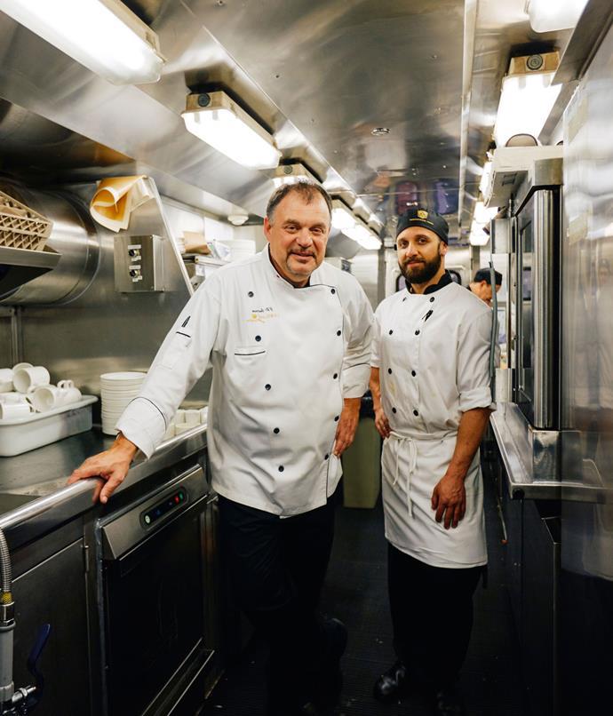 **Rocky Mountaineer executive chef Jean Pierre Guerin**
