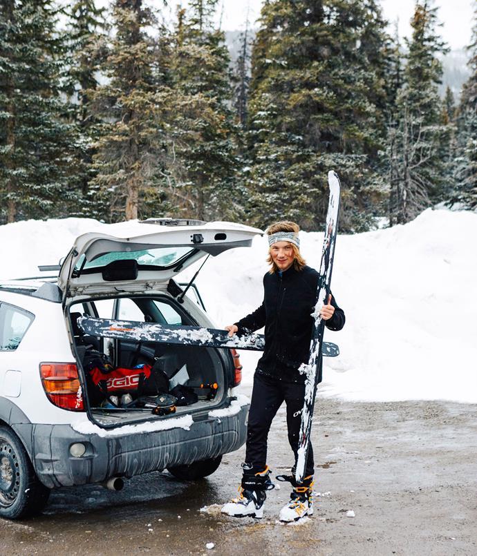 **Off piste: skiing at Lake Louise**