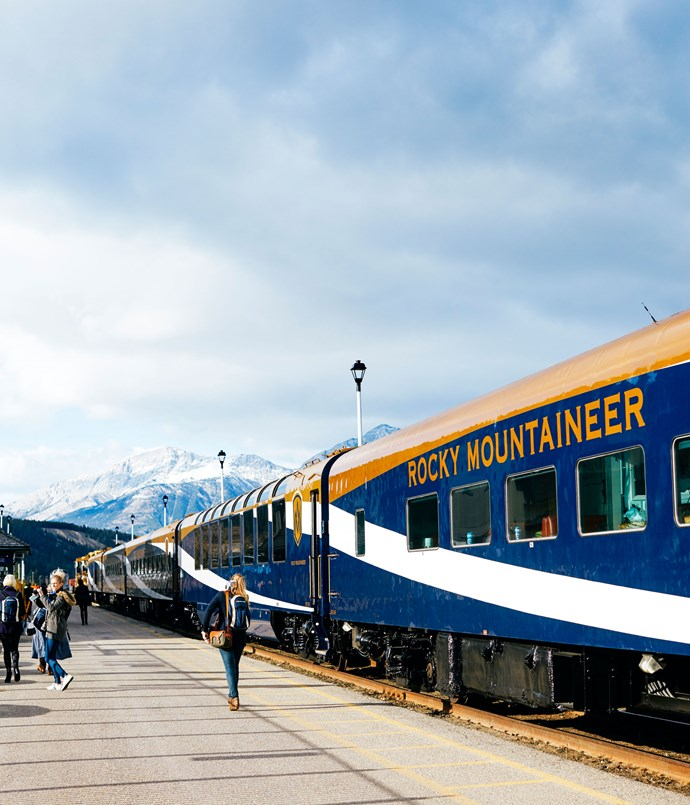 **The Rocky Mountaineer train carriage**