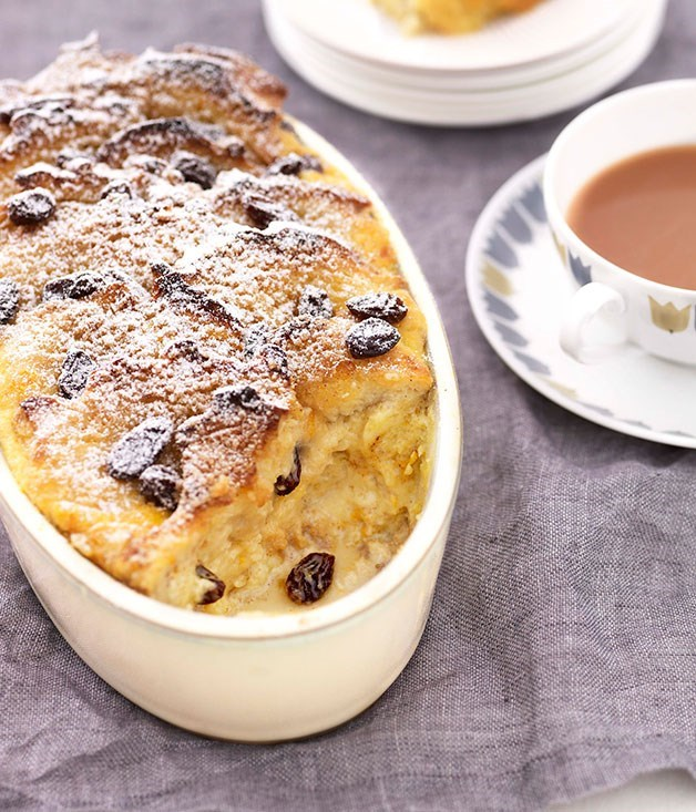 "**[Bread and butter pudding](https://www.gourmettraveller.com.au/recipes/browse-all/bread-and-butter-pudding-8683|target=""_blank"")**"