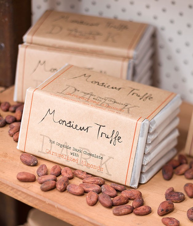 """**Monsieur Truffe, Brunswick East** At Monsieur Truffe, artisan (and often organic) couverture chocolate is used. Owner, Thibault Fregoni, also has the machinery and skills to be able to produce """"bean to bar"""" chocolate bars in his Lygon Street factory-showroom-café.  [monsieurtruffechocolate.com](http://monsieurtruffechocolate.com/)"""