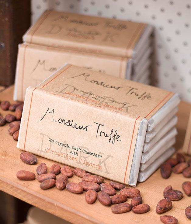 "**Monsieur Truffe, Brunswick East** At Monsieur Truffe, artisan (and often organic) couverture chocolate is used. Owner, Thibault Fregoni, also has the machinery and skills to be able to produce ""bean to bar"" chocolate bars in his Lygon Street factory-showroom-café.   [monsieurtruffechocolate.com](http://monsieurtruffechocolate.com/)"