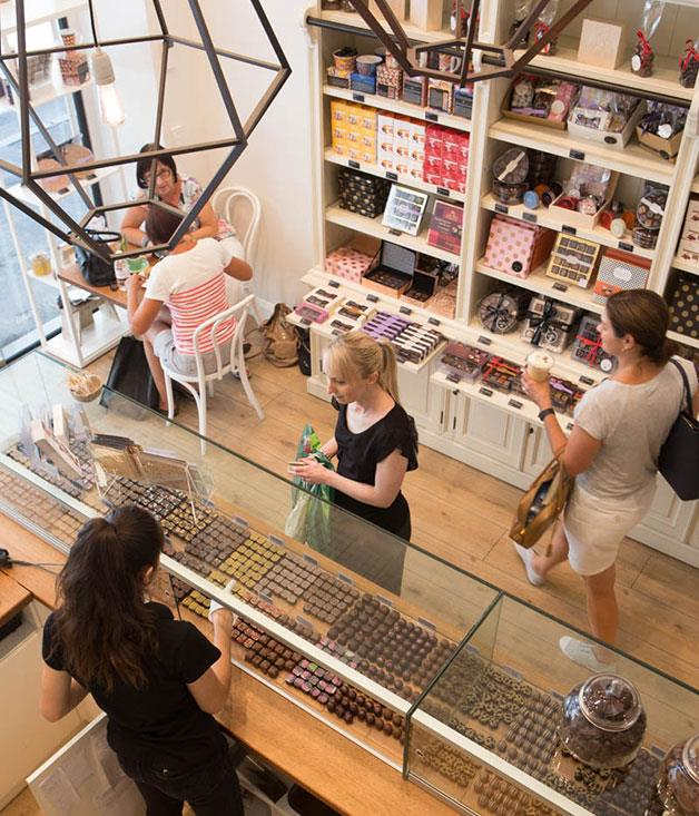 **Just Bliss, Adelaide** Yasemin, sister of Just Bliss owner and chocolatier, Gulcay Uysal, manages the elegant Gawler Place store. [justbliss.com.au](http://www.justbliss.com.au/)