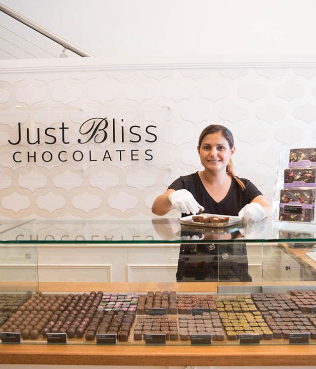 **Just Bliss, Adelaide** As well as presenting signature Just Bliss chocolates, the store has introduced a café serving a range of cakes and such Middle Eastern treats as pistachio baklava. Bliss indeed.[justbliss.com.au](http://www.justbliss.com.au/)
