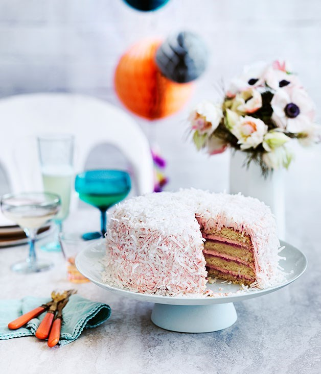 **COCONUT AND BERRY LAYER CAKE**