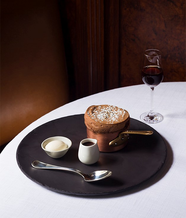 **Chocolate soufflé, Grossi Florentino** The Florentino chocolate soufflé is Melbourne dessert royalty. It was on the menu before the Grossi family took over at the turn of the century and nobody can pinpoint when it first appeared before then. Unsurprisingly, any attempts to change the flavour of the soufflé have been met with fierce resistance. It's not revered merely for sentimental reasons, either; it's a classic of the genre, simultaneously light and rich, made with dark Callebaut cocoa, served in a copper pot and teamed with hazelnut praline and a chocolate sauce flavoured with Valrhona dark chocolate. The only real change has come with the accompanying ice-cream. Once upon a time it was malt, but now it's vanilla flavoured with grains of paradise, giving it a slightly peppery, spicy, chilli-citrus kick that adds a satisfying level of complexity.  _Grossi Florentino, 80 Bourke St, Melbourne, Vic, (03) 9662 1811, [grossiflorentino.com](/grossiflorentino.com)_  PHOTOGRAPHY:MARTIN REFTEL & JESSICA REFTEL EVANS