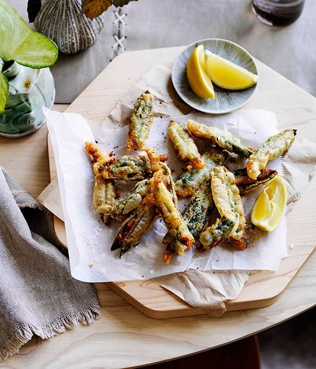 **Anchovy and sage fritters**