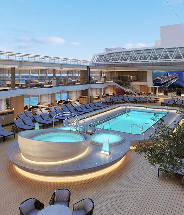 **Holland American Cruise Line** Deluxe onboard pool & spa with Holland American Cruise Line