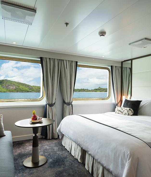 **Crystal Yacht Cruises** Private bedroom suite on the intimate, yet luxurious Crystal Yacht Cruise Line