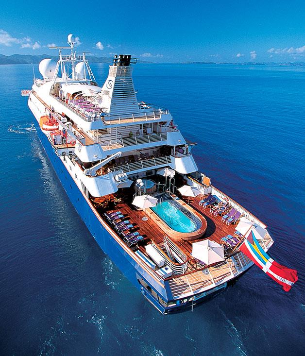 **Sea Dream Yacht Club** Extravagent Sea Dream Yacht with an open-air swimming pool