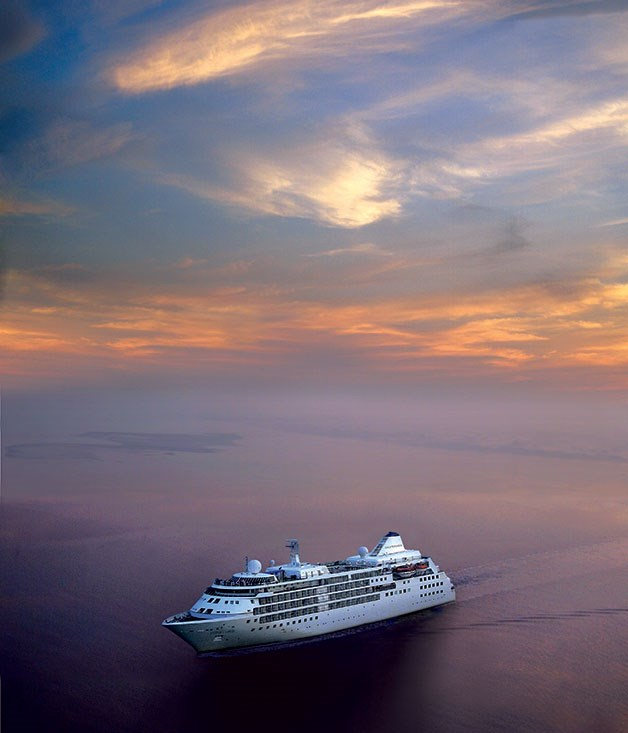 **Silversea Cruise Line** Majestic sunset on Silver Cloud cruise ship