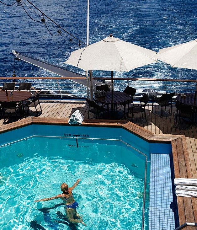 **Silversea Cruise Line** Unwind at the luxurious Silversea Pool & Bar  Photography by Julian Kingma.